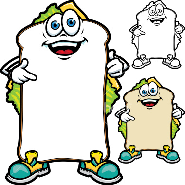 Sandwich Board Cartoon Vector