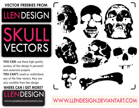 Llen Design Free Skulls Vector Pack