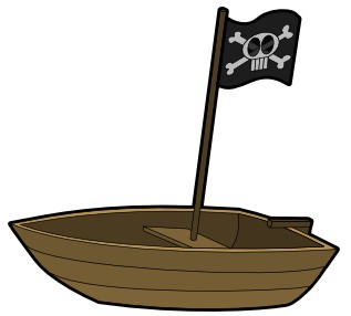 Pirate Dinghy SVG Vector