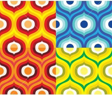 Vector Scandinavian retro pattern 1