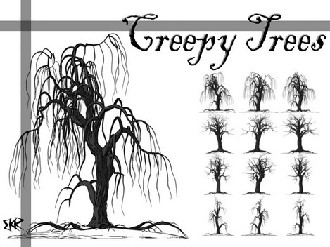 Creepy Trees Photoshop Brushes