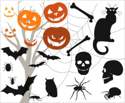 Graphics-Illustrations Halloween Photoshop Brushes