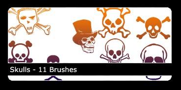 Free Skulls Brushes