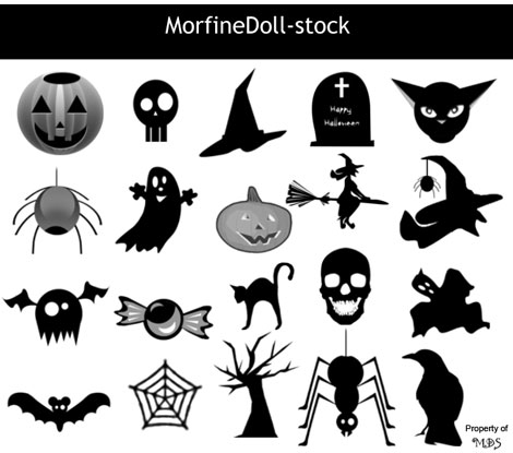 MorfineDoll Free Halloween Photoshop Brushes