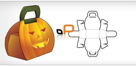 Pumpkin Jack O\'Lantern Box Template