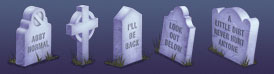 Tombstone Halloween Icons